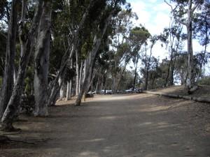 Walking trail Chollas Lake San Diego